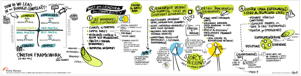 Graphic recorder image about complexity