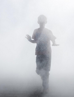 boy in fog