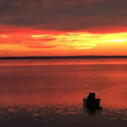 sunrise at Peconic Bay