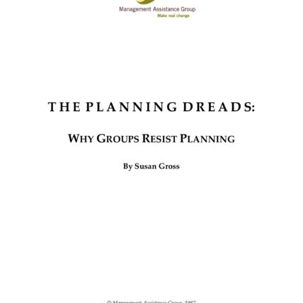 Title Page: The Planning Dreads: Why Groups Resist Planning