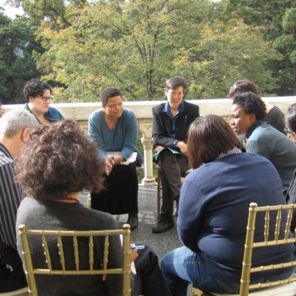 Photo of Discussion circle from the Network Leadership Innovation Lab