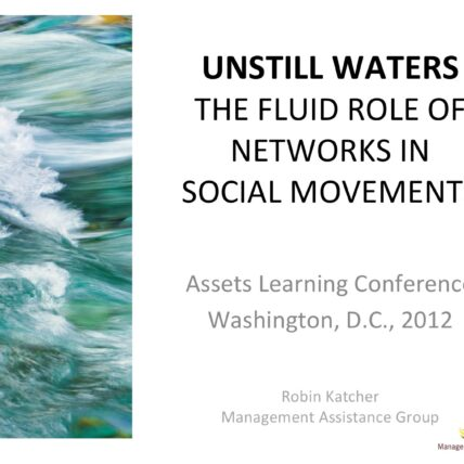 Cover - Until waters: The fluid role of networks in social movements